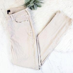 NYDJ Cream Tan Size 14 Stretch Skinny Jeans